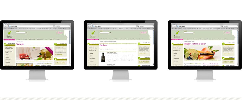 """Shopsystem Typo3, das jpg-grafik.de Portfolio für Grafikdesign, Webdesign und Kommunikationsdesign. Wir entwickeln Corporate Design mit schlauen und frischen Ideen für den Foodmarkt, z.b. Internetshops, Einzelhandel, Märkte, etc. denn mit der Weiterentwicklungen von Marken und Erscheinungsbildern schaffen Sie Vertrauen und Glaubwürdigkeit. Wir beraten, entwerfen und implementieren für den Foodmarkt z.b. """"gutes-olivenoel.de"""" oder Pirpamer das Corporate Design von der Leitidee bis zum Stileguide. Egal ob Sie eine Webseite erstellen lassen möchten oder Logo erstellen lassen möchten, wir, jpg-grafik.de arbeitet präzise, zügig und effizient. Neben der Entwicklung von Printdesign und Webdesign Projekte beim inklusio-koeln.de oder anderen im Ernährungsmarkt tätigen Unternehmen kümmern wir uns auch um die Schnittstellen zu den notwendigen Dienstleistern wie z.b. Textern bzw. Texterstellung, Lektorat, Reinzeichnung und Produktion, Fotografie und Foto/Bildkonzepte. Unser Netzwerk an Mitarbeitern ist so gestaltet, dass wir sämtliche anfallenden Aufgaben für PIrpamer übernehmen können. Dabei ist es gleich ob Sie über einen Face-lift Ihres Unternehmens nachdenken, ein neues Produkt wirkungsvoll auf den Markt bringen möchten, eine Veranstaltung planen oder einfach nur mitteilen möchten, dass es sie gibt, Sie aber nicht wissen welche Kanäle sie dafür bedienen sollten… wir sagen Ihnen wie es geht. Projektmanagement, Analyse und Beratung, Konzeption, Webdesign und Printdesign-Schulungen Public Relation. Kreation, Konzeption, Corporate Grafik für Webdesign und Printdesign, Corporate Foto und -Video, Messedesign, Naming und Text Produktion, Entwicklung und Programmierung, Lektorat und Korrektorat, Übersetzung, Reinzeichnung, Druck und Lithografie. Mit jpg-grafik.de haben Sie einen zuverlässigen Partner für Ihr Kommunikationsdesign an Ihrer Seite. Wir freuen uns Sie im Ernährungsmarkt bei Grafikdesign und Webdesign fachgerecht bei der Erstellung von z.b. Infobroschüren, Webseiten, Home"""